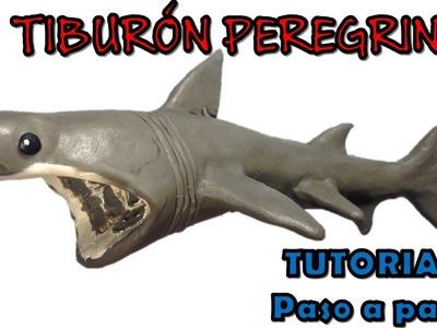 Como hacer un tiburón peregrino de plastilina. How to make a basking shark with plasticine
