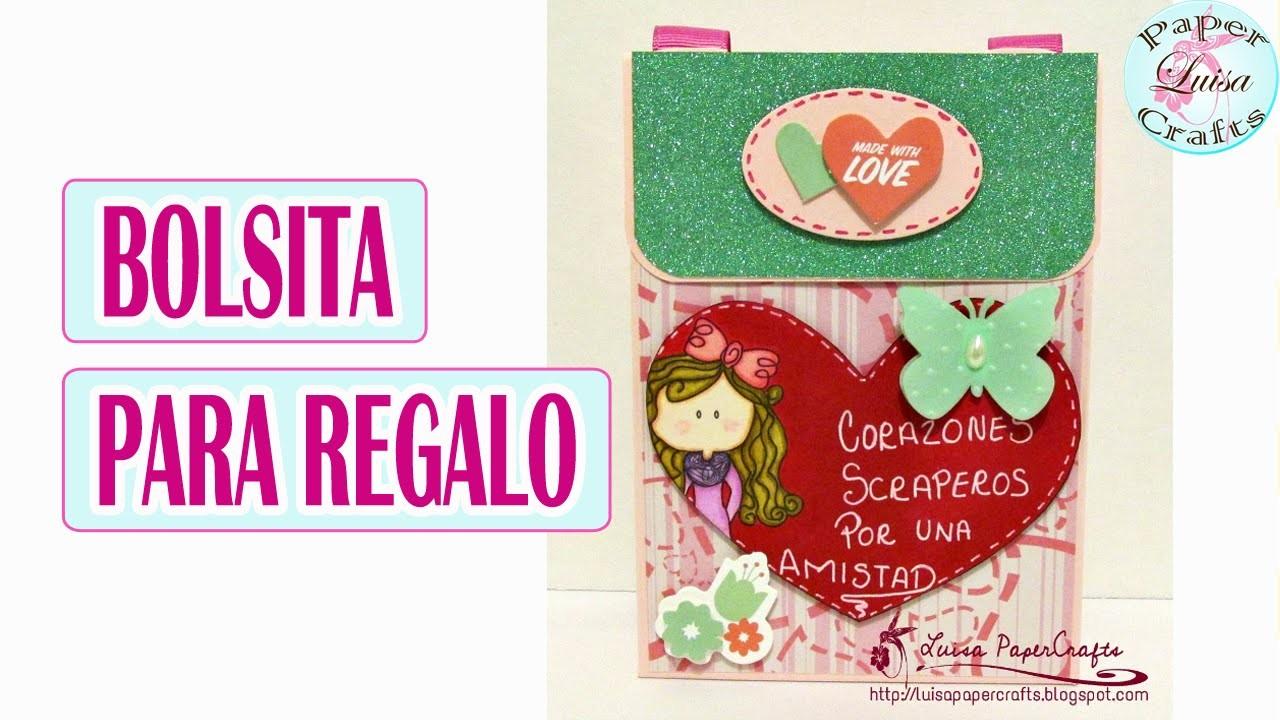 Cómo hacer una Bolsita para Regalo ¡Fácil! | Tutorial DIY San Valentín | Luisa PaperCrafts