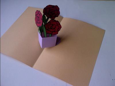 Cómo hacer una tarjeta  de felicitación bouquet de flores. Fazendo um cartão
