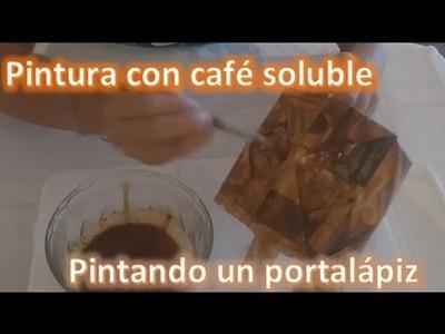 Como pintar con café. Tutorial para preparar pintura con café soluble.