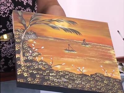 Como Pintar un atardecer con Tonos Tierra - Naranja - Hogar Tv  por Juan Gonzalo Angel