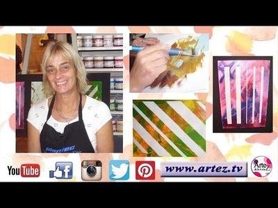 Cómo pintar un cuadro abstracto con la técnica Mixed Media- Conny Mellien Becker
