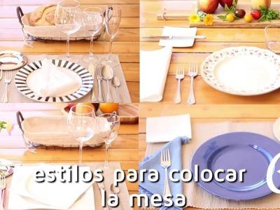 Cómo poner la mesa   facilisimo.com