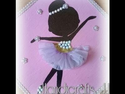 Cuadro de bailarina decorado con listón