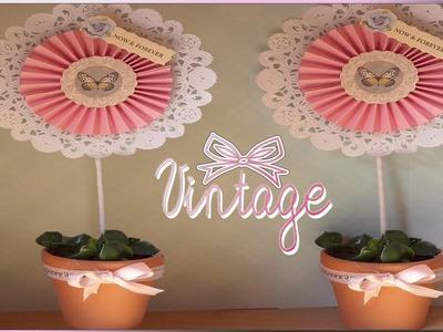 DIY Como hacer centros de mesa para bodas vintage  Wedding centerpiece