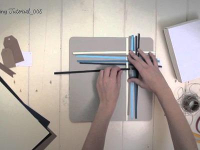 DIY decoración de regalos con tiras de papeles trenzadas - SelfPackaging tutorial