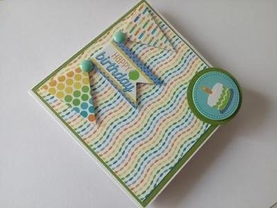 DIY Mini Album una hoja de 12x12  Tutorial scrapbook de cumpleaños