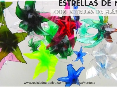 Estrellas de mar con botellas de plástico - Starfish out of recycled plastic bottles