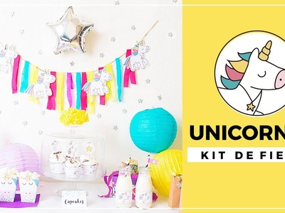 Fiesta de cumpleaños unicornios - kit de fiesta para imprimir