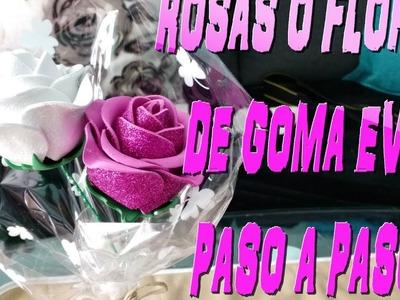 #Flores de goma eva fáciles de hacer????????????