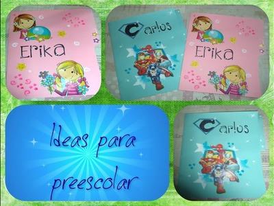 Folders decorados para los expedientes de los niños