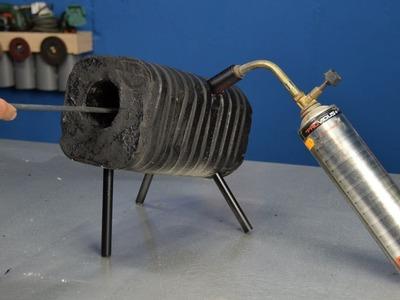 Fragua artesanal y barata, horno de templado de hierro