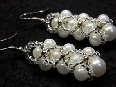 Hermosos Aros de Perlas y Chaquiras. Clase #57!!!