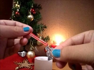 Ideas para decorar velas navideñas.