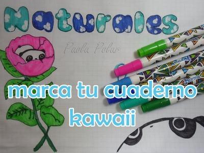 Ideas para marcar tus cuadernos Kawaii *Regreso a clases*