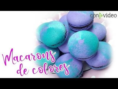 Macarons: Técnica para pintar en 3 colores.