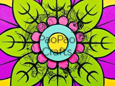 MANDALA | FLOR DE LOTO | FLOR GIGANTE DE PAPEL | MOLDES GRATIS | GIANT PAPEL FLOWER