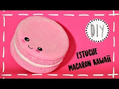 Neceser KAWAII en forma de MACARON con pasta flexible - DIY fácil