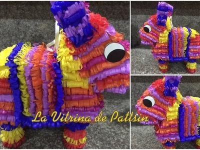 Piñata en forma de Burrito súper fácil, donkey shaped piñata super easy
