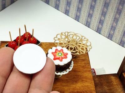 Platos descartables de carton miniatura. Tutorial miniatura.miniature cardboard plates.