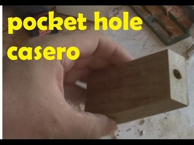 Pocket hole casero hecho con madera