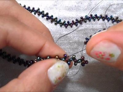 Pulsera Metal y Cristal (Metal & Beads Bracelet) (Металл и бисер браслет)