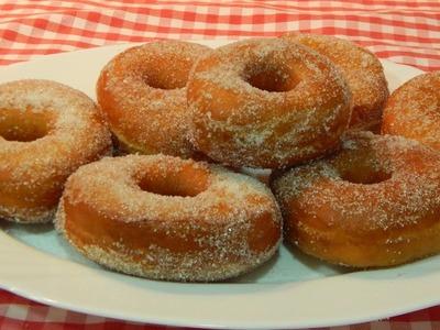 Receta fácil de donas esponjosas. Donuts caseros