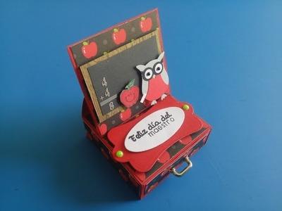 Regalos para el día del maestro , 3 en 1.  Cajita mini álbum y tarjeta tutorial scrapbook stampin up
