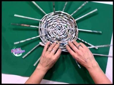 Silvina Buquete - Bienvenidas TV - Realiza un bolso circular en cestería.