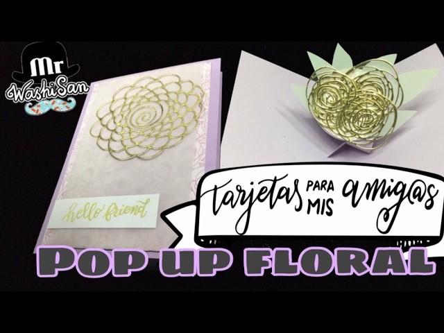 Tag Tarjetas Para Mis Amig@s : tarjeta pop up con giro  3d floral