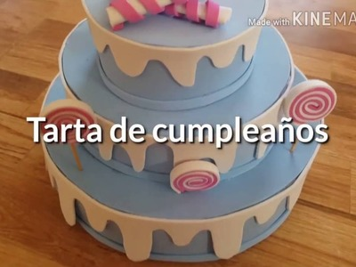 Tarta de cumpleaños de goma eva