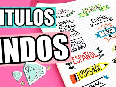 TITULOS BONITOS PARA TUS APUNTES ♡♡   Hey! Anna