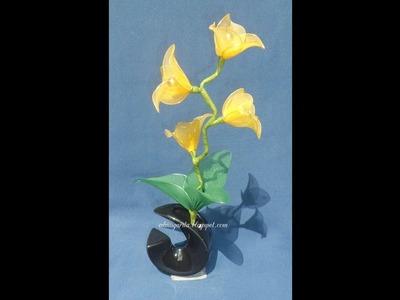 Tutorial: Flores silvestres de nailon - Arreglo