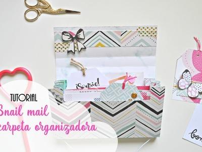 Tutorial snail mail carpeta organizadora en español | Scrapeando con Rocío
