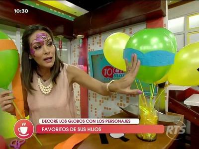 Aprenda a decorar globos vistosos para sus hijos