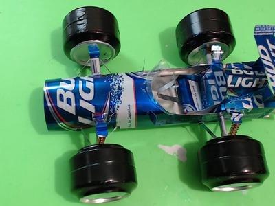 AUTO DE CARRERAS hecho con latas de refresco tutorial capitulo 2