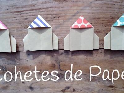 COHETE de papel paso a paso | ORIGAMI fácil para niños