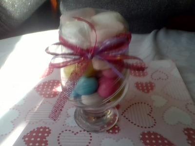 Como decorar una copa de cristal con dulces MDulceCreación