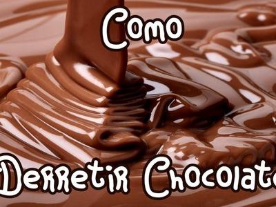 COMO DERRETIR CHOCOLATE A BAÑO MARIA (tutorial.como yo lo hago :D) Mirem Itziar ❤
