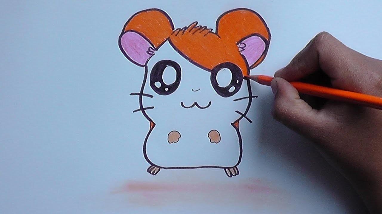 Cómo Dibujar y Pintar a Hamtaro - how to draw and paint hamtaro