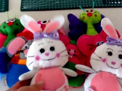 Como hacer conejos de fieltro