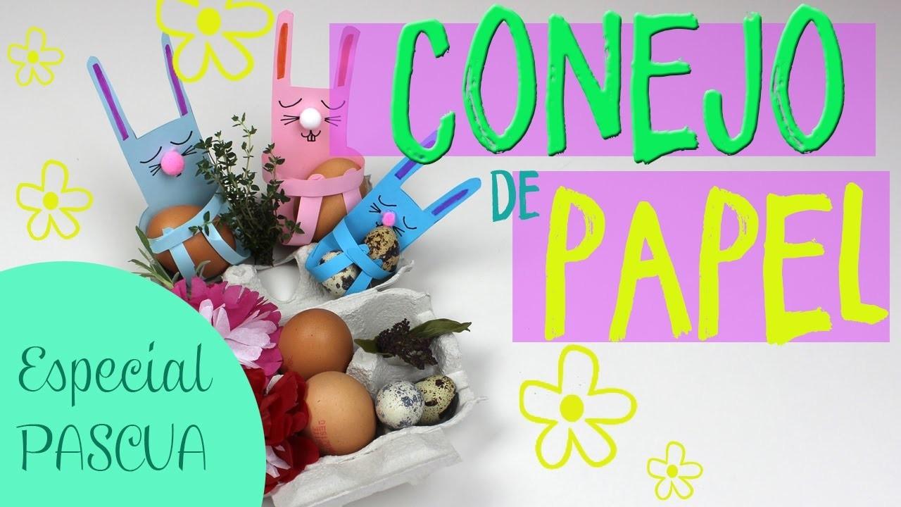 ¿Cómo hacer un conejo de papel? Manualidades de Pascua