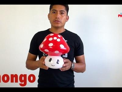 Como hacer un hongo de mario bros con globos