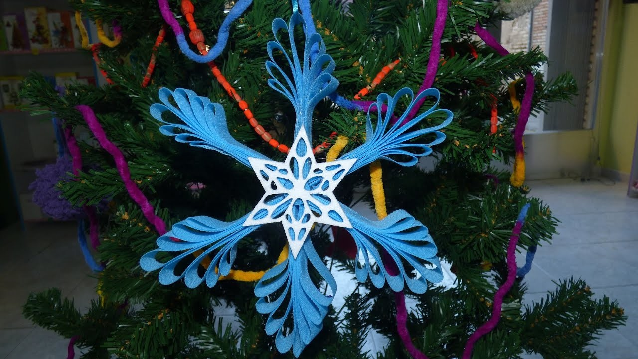 Como hacer una estrella para decorar el árbol de navidad