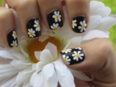 Daisy Nail Art ♥ Margaritas en tus uñas | CosasCool