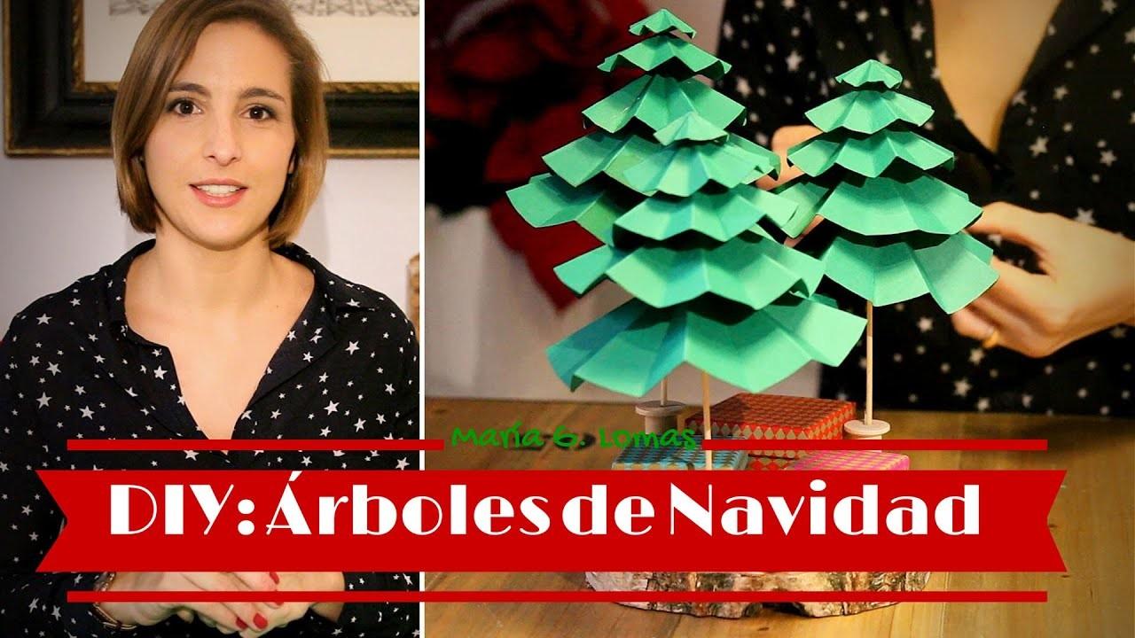 DIY: Cómo hacer árboles de Navidad con cartulinas I María G. Lomas