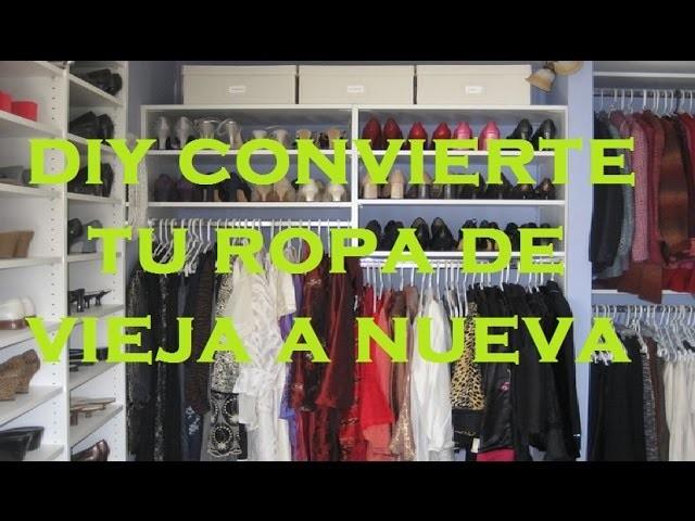 Diy convierte tu ropa de vieja a nueva - diy turn your old clothes into new -customiza tu ropa