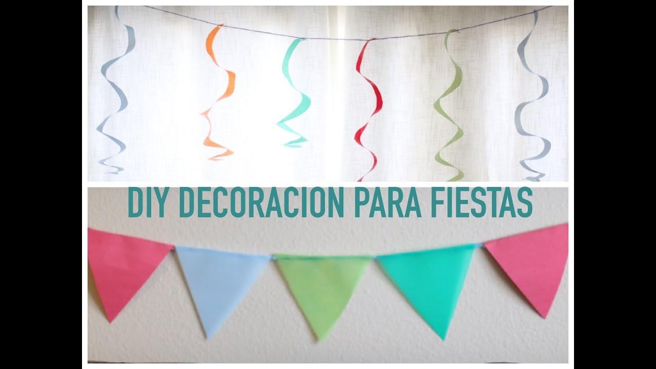 DIY DECORACION PARA FIESTAS