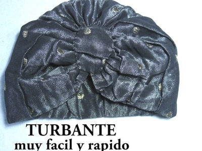 #DIYComo hacer un turbante muy facil #DIYHow to make a turban very easy