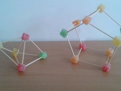 Geometría: Jugando con palillos y gominolas